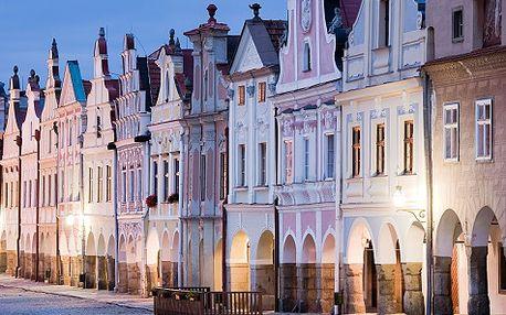 Romantika v Telči (UNESCO) pro DVA na 3 dny s polopenzí