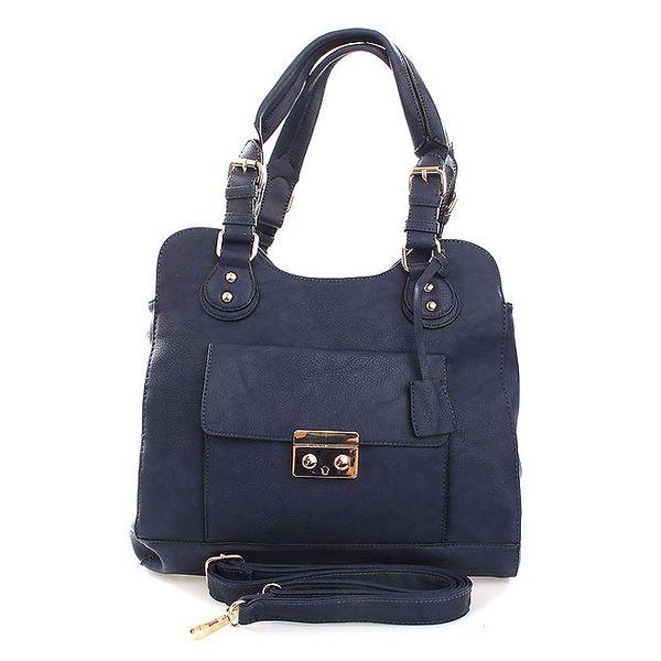 Dámská modrá kabelka s odnímatelným popruhem London Fashion