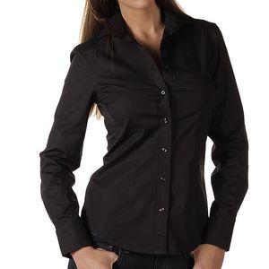 Dámská černá košile s dlouhým rukávem Replay