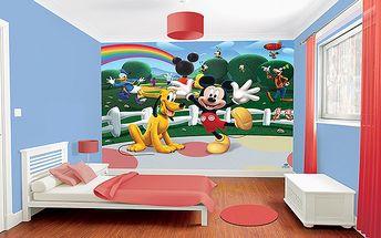 Tapeta Disney Mickeyho klubík - 305 x 244 cm