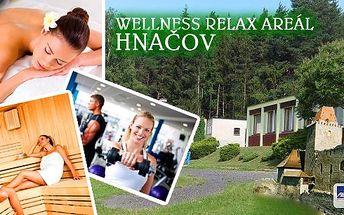 Wellness pobyt na 3 dny k intenzivnímu odpočinku, odbourání stresu a zlepšení zdraví. Relax areál Hnačov nabízí wellness pobyt pro 2 s polopenzí, fitnessem neomezeně, masážemi a saunou nebo zábalem!