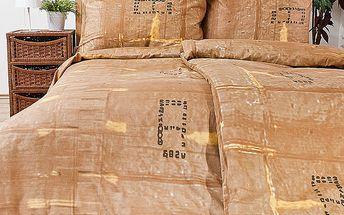 Saténové povlečení Karton, 140x200, 70x90 cm