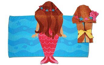 Ručník s kapuckou - víla. Nádherná osuška na pláž, k bazénu nebo na každodenní koupání.