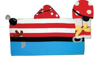 Ručník s kapuckou - pirát. Nádherná osuška na pláž, k bazénu nebo na každodenní koupání.