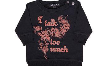 Černá mikinka s růžemi-mimi