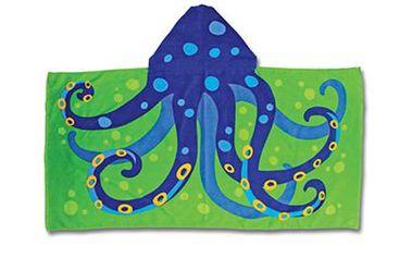 Ručník s kapuckou - chobotnice. Nádherná osuška na pláž, k bazénu nebo na každodenní koupání.