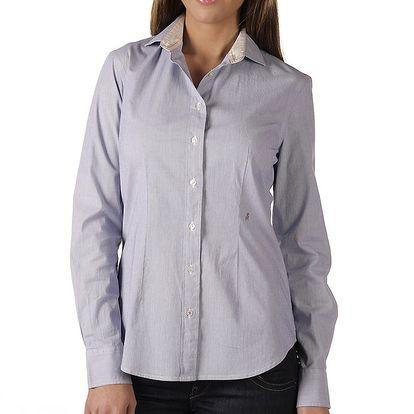 Dámská modrá košile s proužky Replay