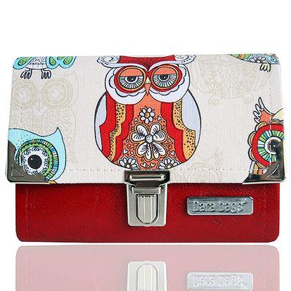 Malá červená peněženka Sovy