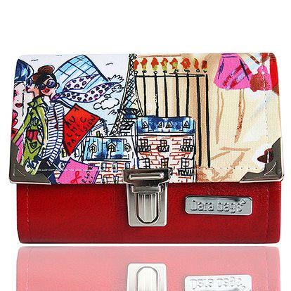 Malá červená peněženka I love Paris