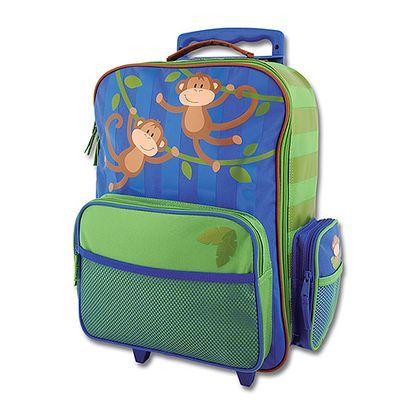 Kufr na kolečkách s opicí