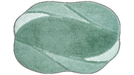 Koupelnová předložka Grund REGENT zelená, 60x90 cm
