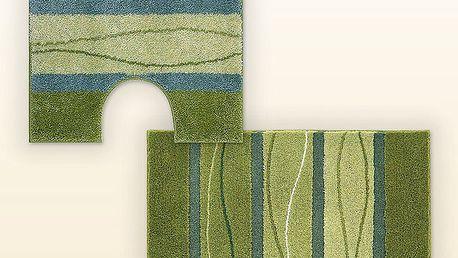 Koupelnová předložka + WC předložka GRUND zelená, sada 2 kusů