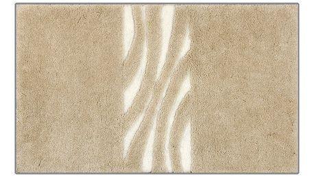 Koupelnová předložka Grund THUNI béžová, 60x90 cm