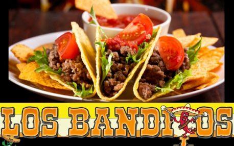 Senzace! MEXICKÉ - AMERICKÉ SPECIALITY v restauraci LOS BANDITOS! Burrito, quesadillas, nachos, burgery, steaky, polévky, saláty, dezerty a další výborné pokrmy dle vašeho výběru! Zkuste pravou chuť Mexika přímo v centru Prahy!!!
