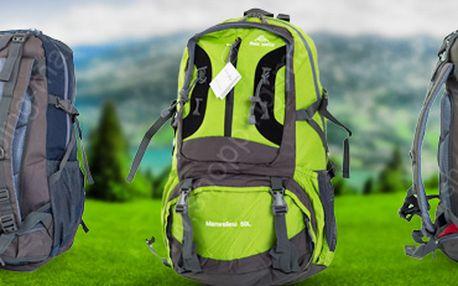 Outdoorový batoh, 50l: na expedice, trekking i cestování. V 5 barvách!