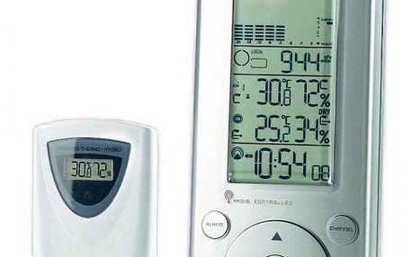 Meteostanice GARNI 635EL měří vnitřní a venkovní teplotu a vlhkost.