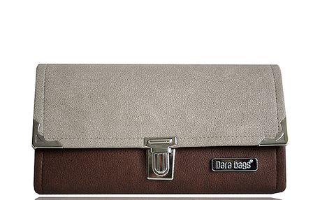Béžovo - hnědá peněženka od Dara bags