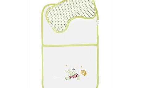 Přebalovací podložka s polštářkem zelená