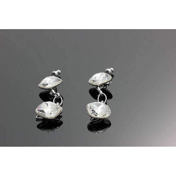 Dámské náušnice se dvěma krystalky Swarovski