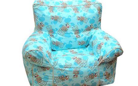 Velký sedací vak modrý
