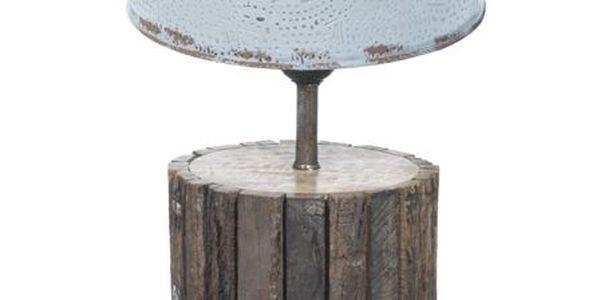 Stolní lampa Wood s plechovým cylindrem
