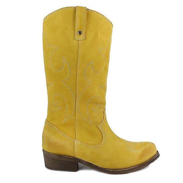 Dámské žluté semišové boty Cubanas Shoes