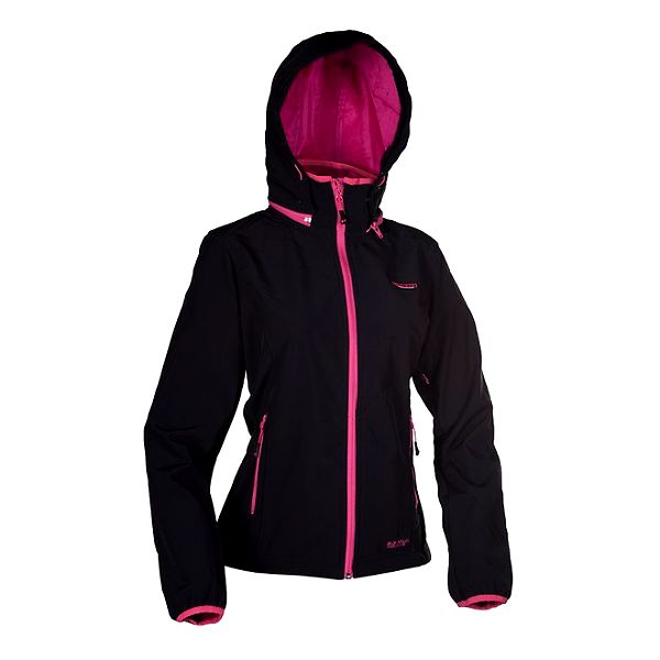 Dámská černá bunda Envy s růžovými detaily