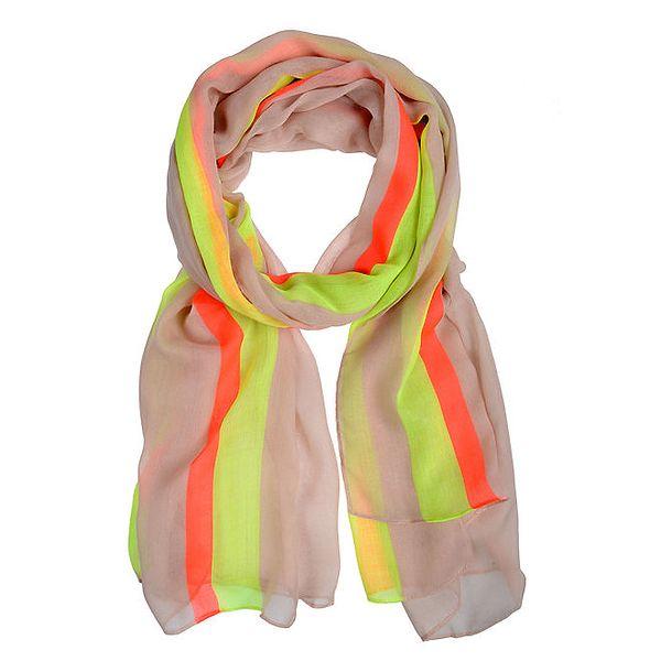 Dámský šátek s barevnými proužky Invuu London