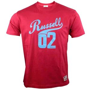 Pánské lifestyle triko - Russell Athletic RUSSELL TEE červená