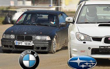 6 okruhů v Subaru Impreza nebo BMW E36 328i od 690 Kč!