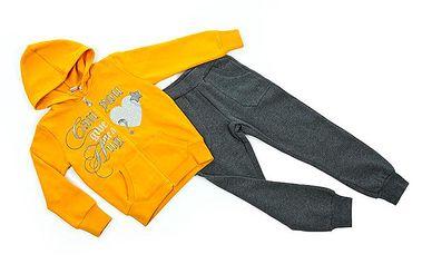 Žluto-šedá tepláková souprava (větší děti)