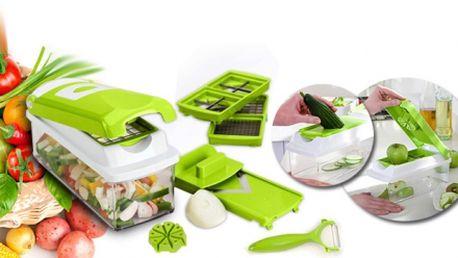Multifunkční KRÁJEČ, nepostradatelný pomocník do Vaší kuchyně, za fantastickou cenu 299 Kč! NAKRÁJÍ nebo NASTROUHÁ zeleninu i ovoce jednoduše a během pár vteřin! Praktická plastová nádoba pro uskladnění potravin v ceně!