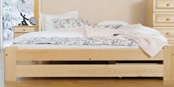 Kvalitní postele z masivního dřeva s roštem od neuvěřitelných 1590 Kč. Dopřejte si kvalitní spánek