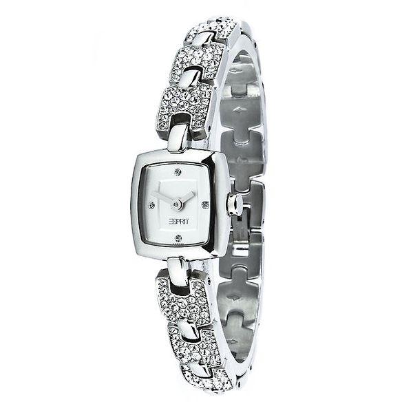 Dámské stříbrné hodinky Esprit s kamínky