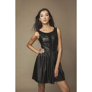 Dámské koženkové šaty Ambigante