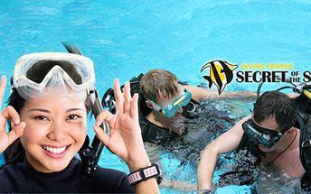 Láká Vás potápění? Objevte svět pod hladinou! Připravili jsme pro Vás ZKUŠEBNÍ PONOR v BAZÉNU! Dopřejte si tento adrenalinový zážitek již od 199 Kč! 20 TEORIE a 10 nebo 20 minut POTÁPĚNÍ pod dohledem INSTRUKTORA!