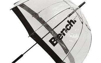 Transparentní deštník s tmavými lemy Bench
