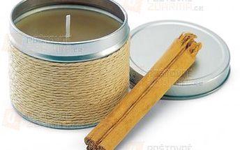 Skořicová svíčka v plechové krabičce a poštovné ZDARMA s dodáním do 3 dnů! - 18708155