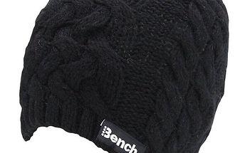 Černá pletená čepice Bench
