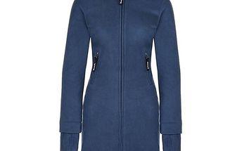 Dámský modrý fleecový kabát s límcem Bench