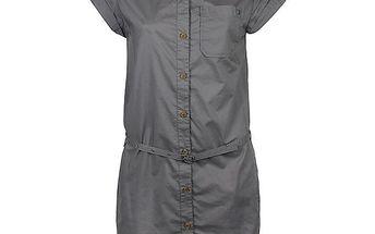 Dámské šedé šaty košilového střihu Bench