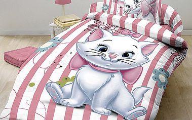 Dětské povlečení kočka Marie Stripe, Jerry Fabrics, 140 x 200 cm, 70 x 90 cm