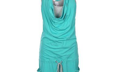 Dámské tyrkysové šaty s šedým tílkem Bench