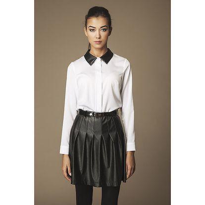 Dámská bílá košile s černým límečkem Ambigante