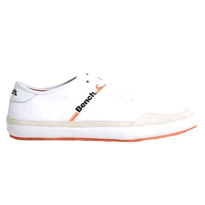 Pánské bílé tenisky s oranžovou podrážkou Bench