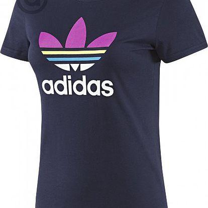 Módní dámské tričko Adidas Trefoil Tee Multi Col Legend ink pro volnočasové aktivity