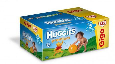 Huggies Premium 5 Giga box - 132ks