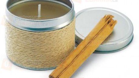 Skořicová svíčka v plechové krabičce a poštovné ZDARMA s dodáním do 3 dnů! - 13808155