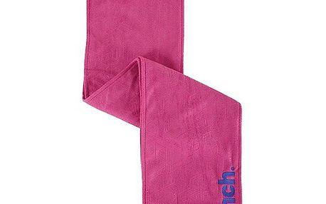 Růžová fleecová šála Bench