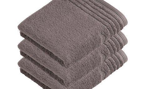 Vossen ručník Vienna Style Supersoft šedá, 50 x 100 cm, sada 3 ks
